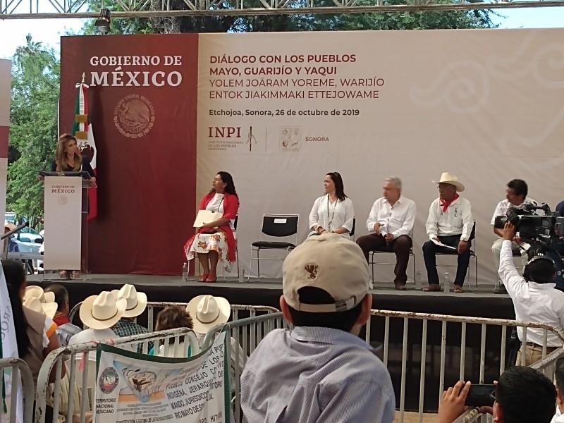 Visita AMLO a los Mayos en Etchojoa