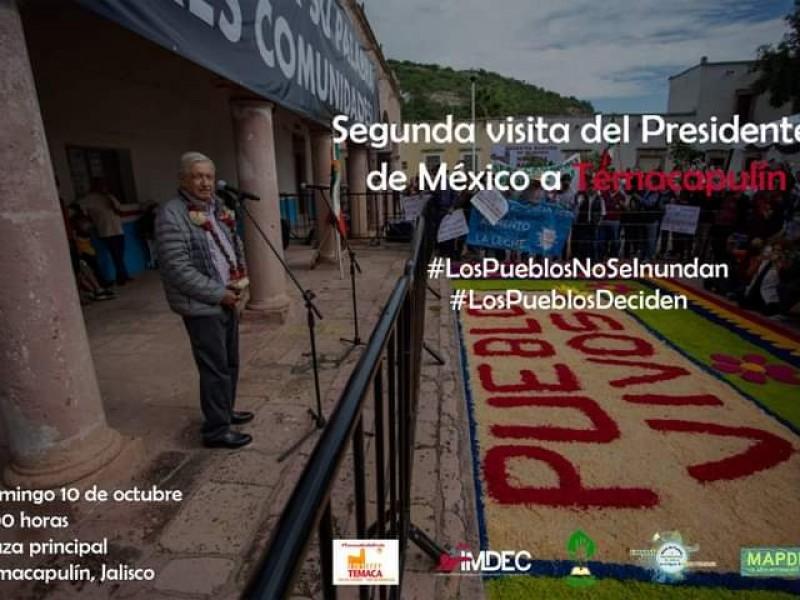 Visita AMLO a Temacapulín este domingo para decisión sobre presa