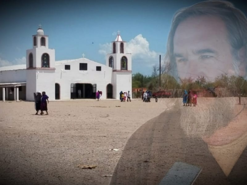 Visita padre David Beaumont a familiares de Yaquis desaparecidos