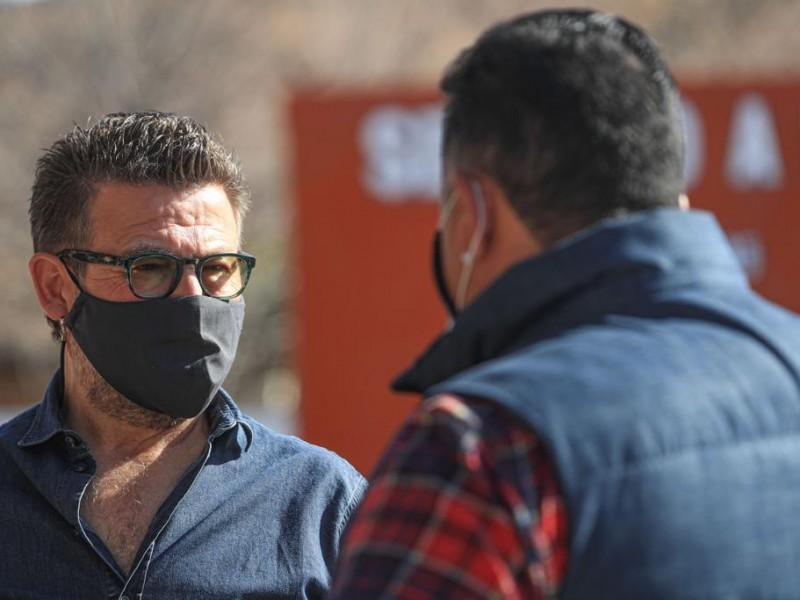 Visita Ricardo Bours a militantes de Santa Cruz y Cucurpe