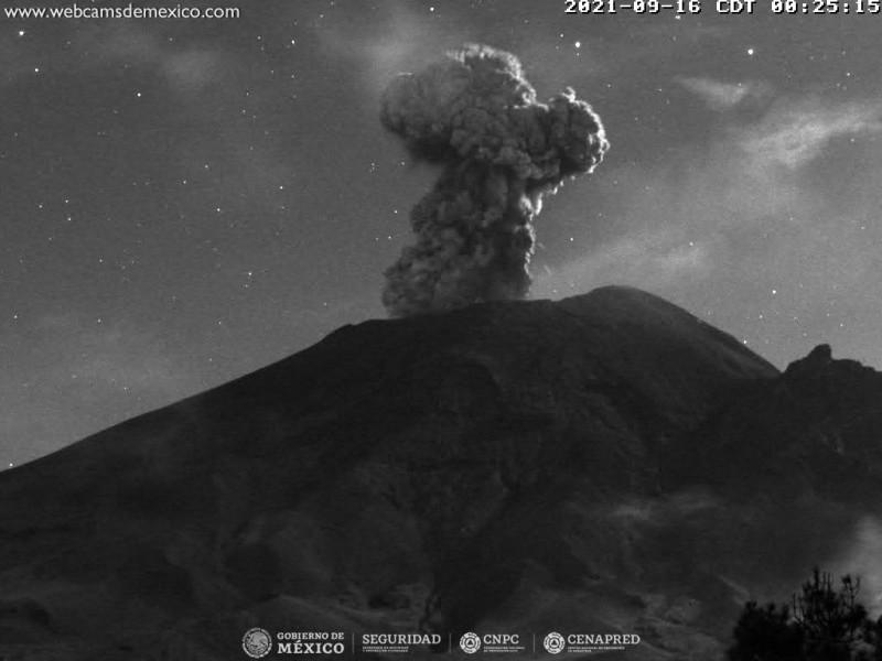 Volcán Popocatépetl continuará emitiendo ceniza y explosiones