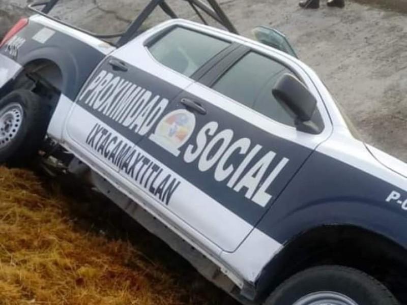 Vuelca patrulla de Ixtacamaxtitlan en municipio de Tlaxcala