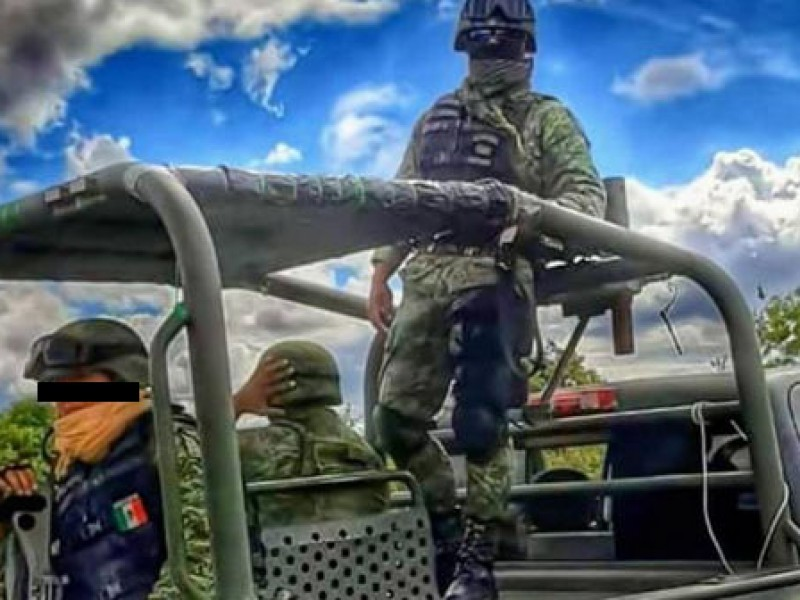 Vuelca vehículo del Ejército en Veracruz