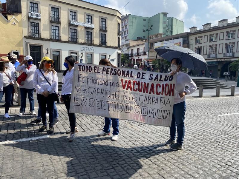 Vuelven a exigir vacunas anticovid para personas médico de Xalapa