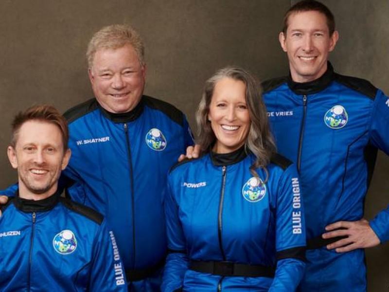 William Shatner llegó al espacio en la misión Blue Origin