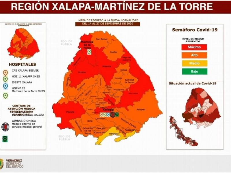 Xalapa avanza a Semáforo Epidemiológico en Naranja