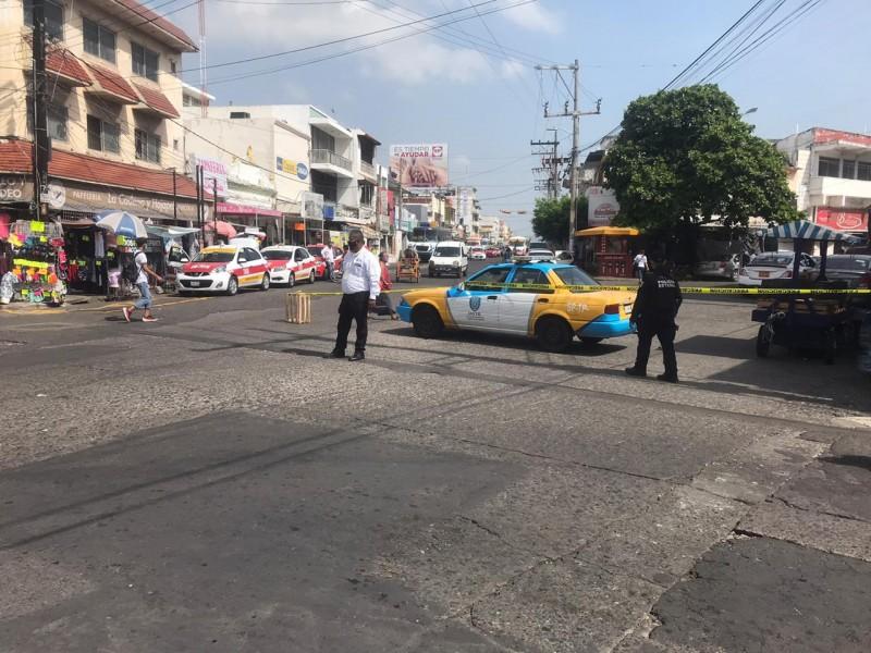 Ya hay cierres viales en el centro de Veracruz