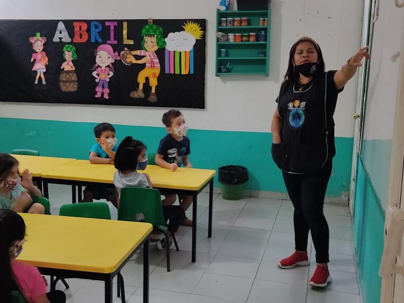 Ya hay clases presenciales en algunas escuelas de Chiapas