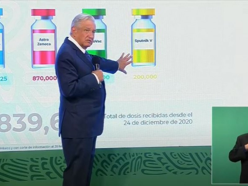 Ya no se detendrá la vacunación en México: AMLO