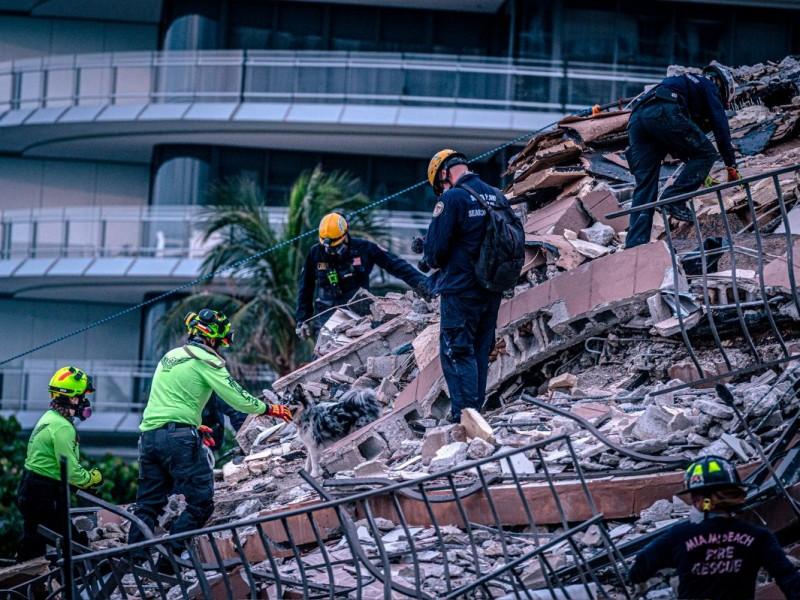 Ya son 18 muertos por el derrumbe en Miami