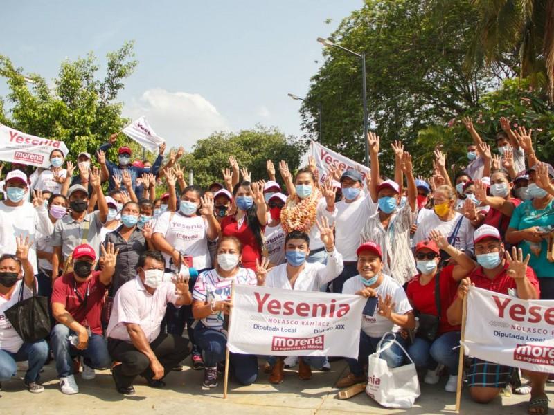 Yesenia Nolasco aventaja en el Distrito XIX