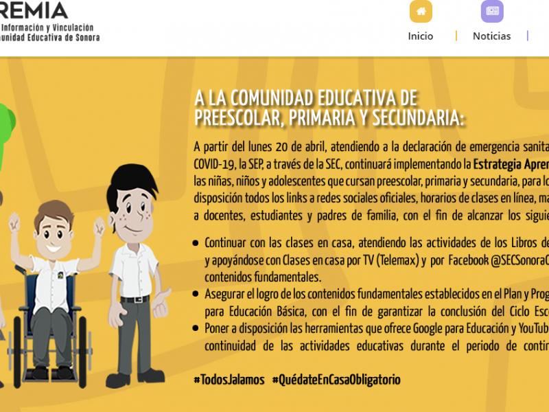 Yoremia otorgará calificaciones y certificados de alumnos en Sonora