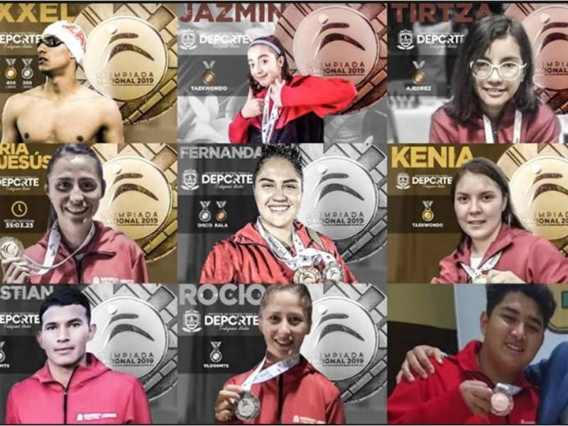 Zacatecanos acumulan 13 medallas en Olimpiada Nacional