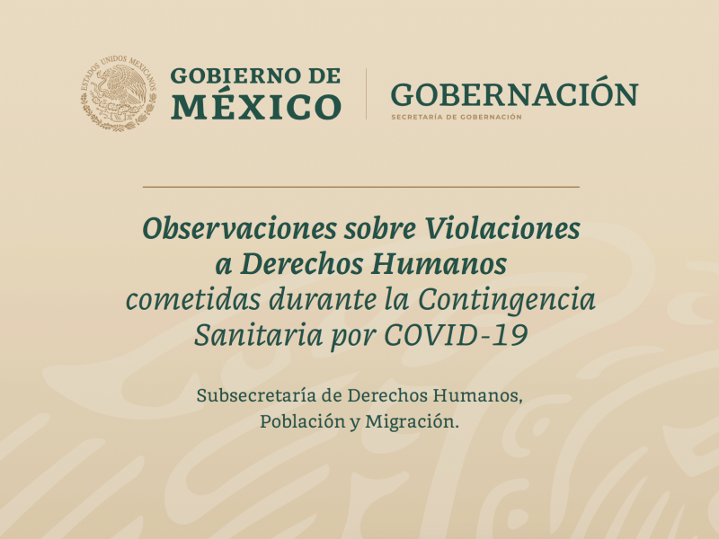 Zacatecas en primeros lugares de violaciones a DDHH durante contingencia