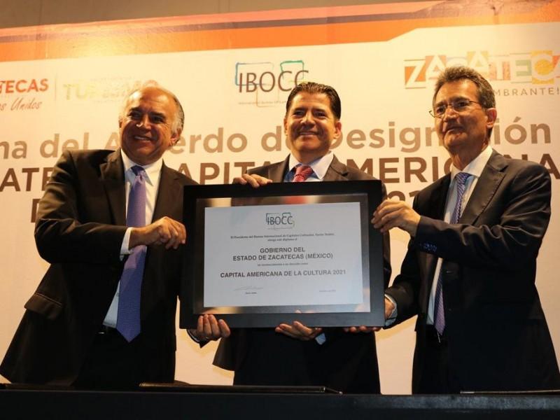 Zacatecas recibe nombramiento de Capital Americana Cultural 2021