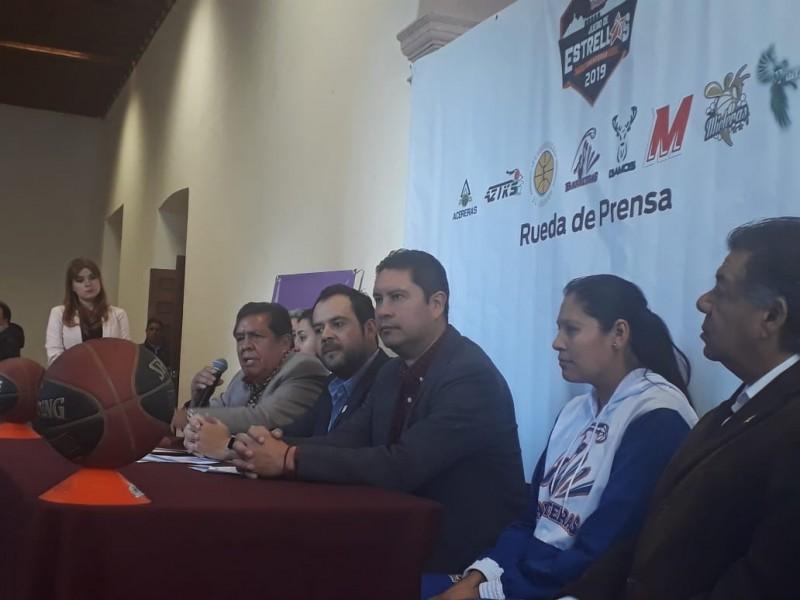 Zacatecas recibirá Juego de Estrellas de básquetbol femenil