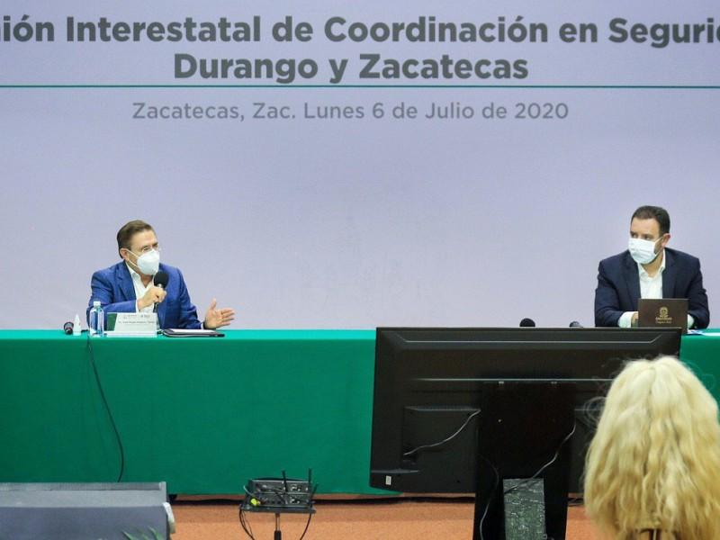 Zacatecas y Durango acuerdan estrategia de seguridad conjunta