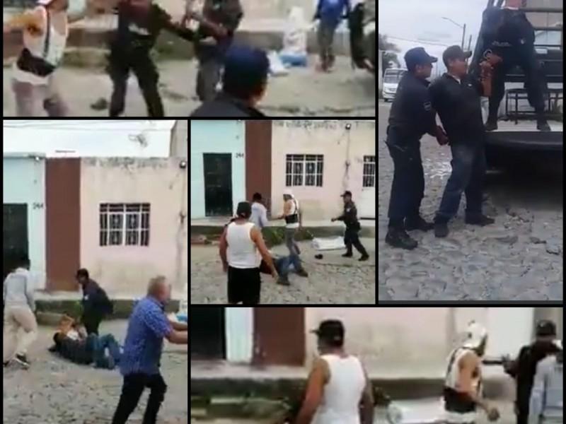 Zafarranchos entre policías y colonos en Puerta de la Laguna