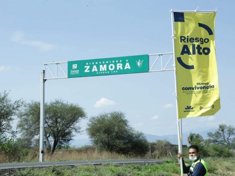 Zamora pasa de bandera verde a amarilla por COVID-19
