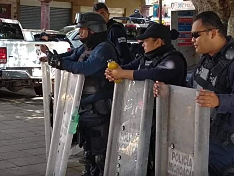 Zamora requiere recursos para equipamiento policial