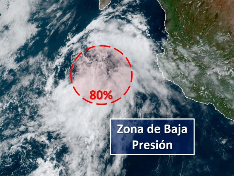 Zona de baja presión ocasiona lluvias