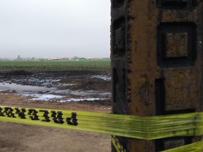Zona devastada por explosión en San Pablo Autopan