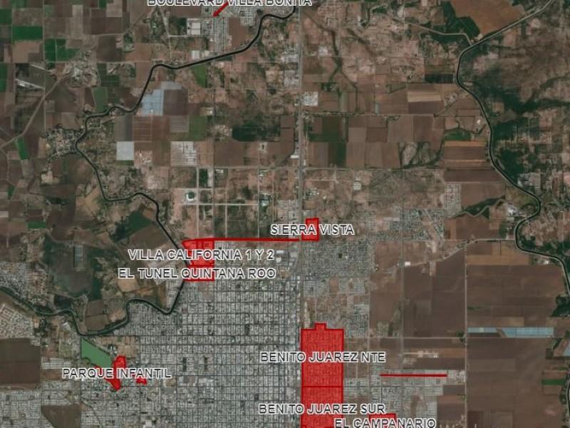 Zonas de alto riesgo por inundaciones en Cajeme